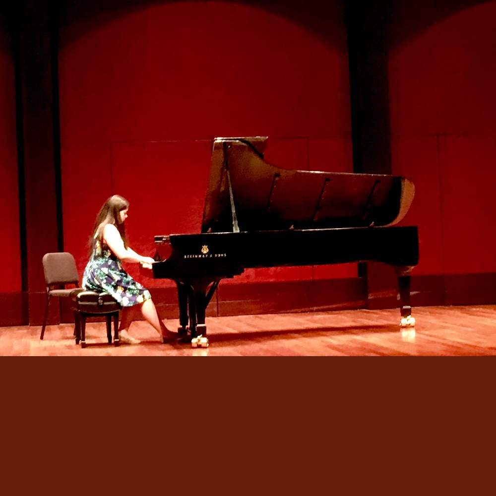 mandy piano recital at CCM