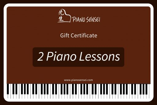2 piano lessons gift certificate