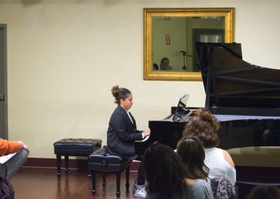 piano student performance