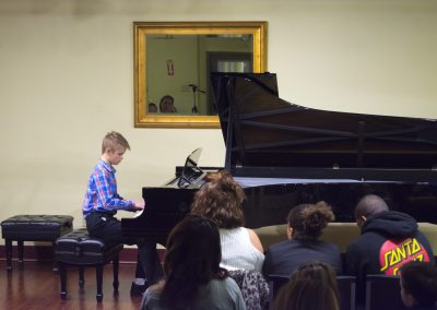 piano student performing