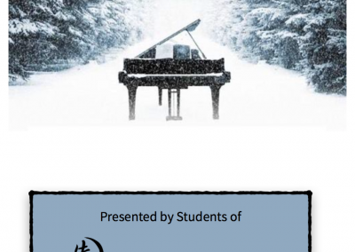 Winter Musicale 2018 program cover