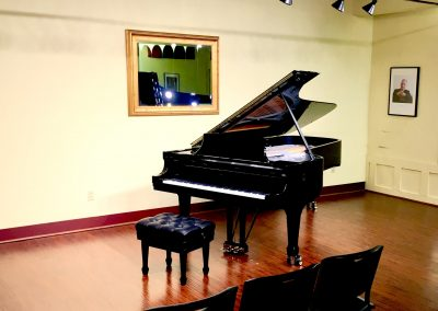 spring piano recital room