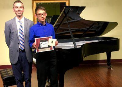 spring piano recital student award